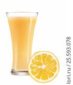 Стакан апельсинового сока. Стоковая иллюстрация, иллюстратор Ирина / Фотобанк Лори