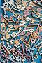 Много старых ключей на синем фоне, фото № 25593262, снято 3 ноября 2015 г. (c) Papoyan Irina / Фотобанк Лори
