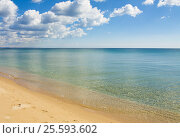 Купить «Sea, sandy beach and clouds», фото № 25593602, снято 2 апреля 2015 г. (c) ИВА Афонская / Фотобанк Лори