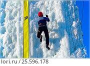 Соревнования по ледолазанию. Стоковое фото, фотограф Владимир Мигонькин / Фотобанк Лори