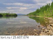 Купить «Плато Путорана, река Муксун», фото № 25607074, снято 29 июля 2015 г. (c) Сергей Дрозд / Фотобанк Лори