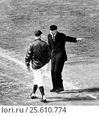 United States: c. 1965 Los Angeles Dodger manager Walter Alston gets tossed out of the game by umpire Ken Burkhart. (2017 год). Редакционное фото, фотограф Underwood Archives / age Fotostock / Фотобанк Лори