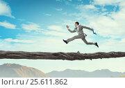 Купить «Overcome fear of failure . Mixed media . Mixed media», фото № 25611862, снято 27 марта 2014 г. (c) Sergey Nivens / Фотобанк Лори