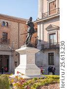 Купить «Estatua de Don Alvaro de Bazán. Мadrid», эксклюзивное фото № 25613230, снято 5 октября 2012 г. (c) Владимир Чинин / Фотобанк Лори
