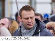 Купить «Алексей Навальный на марше в память о Борисе Немцове 26 февраля 2017 года», эксклюзивное фото № 25616542, снято 26 февраля 2017 г. (c) Алексей Шматков / Фотобанк Лори