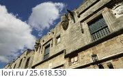 Купить «Medieval Avenue of the Knights, a cobblestone street in Rhodes Citadel , Greece», видеоролик № 25618530, снято 26 февраля 2017 г. (c) Владимир Журавлев / Фотобанк Лори