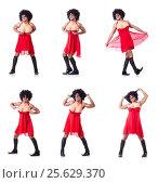 Купить «Man dressing in woman dress», фото № 25629370, снято 14 февраля 2013 г. (c) Elnur / Фотобанк Лори
