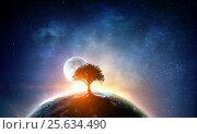 Купить «Our unique universe . Mixed media», иллюстрация № 25634490 (c) Sergey Nivens / Фотобанк Лори