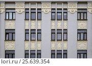 Купить «Рига, Матиса 27, детали фасада», фото № 25639354, снято 17 февраля 2017 г. (c) Andrejs Vareniks / Фотобанк Лори