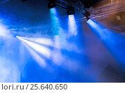 Купить «Сценические огни. Софиты. Концертное освещение», фото № 25640650, снято 26 февраля 2016 г. (c) Евгений Ткачёв / Фотобанк Лори