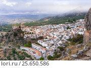 Купить «Village Zuheros from above, White Towns of Andalusia, province Córdoba, Spain.», фото № 25650586, снято 24 октября 2016 г. (c) age Fotostock / Фотобанк Лори