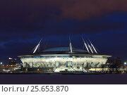 """Купить «Стадион """"Санкт-Петербург Арена"""". Санкт-Петербург.», фото № 25653870, снято 25 февраля 2017 г. (c) Роман Рожков / Фотобанк Лори"""
