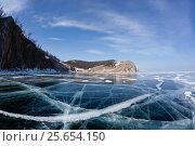 Купить «Beautiful views of the lake Baikal winter», фото № 25654150, снято 10 марта 2014 г. (c) Анна Костенко / Фотобанк Лори