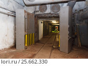Купить «Bunker from Cold War, object an underground submarine base», фото № 25662330, снято 16 октября 2018 г. (c) Mikhail Starodubov / Фотобанк Лори