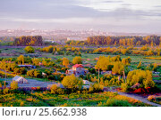 Купить «Рассвет над городом, Челябинск», фото № 25662938, снято 11 июня 2016 г. (c) Хайрятдинов Ринат / Фотобанк Лори