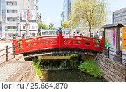 Купить «Мост Харимая-баси в городе Коти, остров Сикоку, Япония», фото № 25664870, снято 19 июля 2016 г. (c) Иван Марчук / Фотобанк Лори