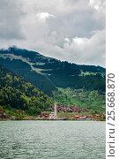 Купить «Uzungol - lake in the north-eastern part of Turkey», фото № 25668870, снято 2 мая 2016 г. (c) Давидич Максим / Фотобанк Лори