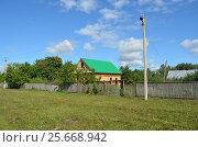 Строится новый дом в башкирской деревне. Стоковое фото, фотограф Наталья Тагирова / Фотобанк Лори