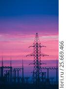 Купить «Industrial landscape at dawn, Baikonur, Kazakhstan», фото № 25669466, снято 19 ноября 2007 г. (c) Игорь Овсянников / Фотобанк Лори