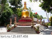 Купить «Chedi in Buddhist Monastery Brahma Vihara Ashrama, Wihara Buddha Banjar, Bali, Indonesia», фото № 25697458, снято 26 марта 2014 г. (c) mauritius images / Фотобанк Лори