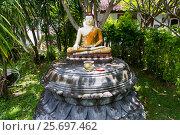 Купить «Buddha statue in Buddhist Monastery Brahma Vihara Ashrama, Wihara Buddha Banjar, Bali, Indonesia», фото № 25697462, снято 26 марта 2014 г. (c) mauritius images / Фотобанк Лори