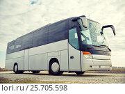 Купить «tour bus driving outdoors», фото № 25705598, снято 21 октября 2015 г. (c) Syda Productions / Фотобанк Лори