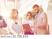 Купить «business team with tablet pc and folders at office», фото № 25705810, снято 3 июля 2016 г. (c) Syda Productions / Фотобанк Лори