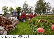 Купить «stack of firewood on farm at country», фото № 25706058, снято 25 августа 2016 г. (c) Syda Productions / Фотобанк Лори