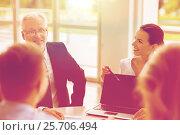 Купить «business people with laptop meeting in office», фото № 25706494, снято 3 июля 2016 г. (c) Syda Productions / Фотобанк Лори