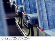 Купить «travel bus interior and seats», фото № 25707254, снято 21 октября 2015 г. (c) Syda Productions / Фотобанк Лори