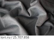 Купить «close up of gray textile or fabric background», фото № 25707858, снято 15 сентября 2016 г. (c) Syda Productions / Фотобанк Лори