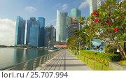 Купить «Daytime Singapore hyperlapse», видеоролик № 25707994, снято 27 февраля 2017 г. (c) Кирилл Трифонов / Фотобанк Лори
