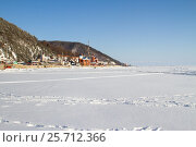 Купить «Дорога по заснеженному льду Байкала», фото № 25712366, снято 8 марта 2017 г. (c) Момотюк Сергей / Фотобанк Лори