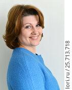 Купить «Portrait of an adult woman with beautiful smile», фото № 25713718, снято 6 марта 2017 г. (c) Володина Ольга / Фотобанк Лори