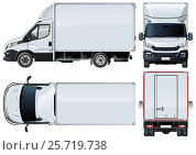 Купить «Vector truck template isolated on white», иллюстрация № 25719738 (c) Александр Володин / Фотобанк Лори