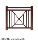 Brown metal design railing. Стоковая иллюстрация, иллюстратор Дмитрий Самойленко / Фотобанк Лори
