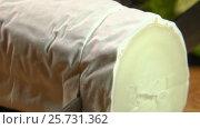 Купить «Delicious goat cheese with white mold», видеоролик № 25731362, снято 4 февраля 2017 г. (c) Дебалюк Александр Владимирович / Фотобанк Лори