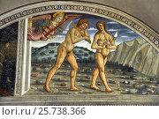 Купить «Tavarnelle, Italy, fresco by Bernardo di Stefano Rosselli in the Abbey of Badia a Passignano», фото № 25738366, снято 19 августа 2016 г. (c) Caro Photoagency / Фотобанк Лори