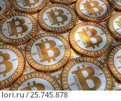 Bitcoin background. Стоковая иллюстрация, иллюстратор Алексей Романенко / Фотобанк Лори