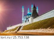 Купить «Мечеть The Kul-Sharif mosque», фото № 25753138, снято 8 марта 2017 г. (c) Baturina Yuliya / Фотобанк Лори