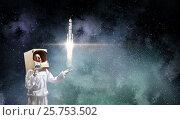 Купить «Dreaming to explore space . Mixed media . Mixed media», фото № 25753502, снято 16 января 2019 г. (c) Sergey Nivens / Фотобанк Лори