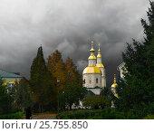 Купить «Казанская церковь в Дивеево под грозовым небом», фото № 25755850, снято 24 сентября 2013 г. (c) oleg savichev / Фотобанк Лори