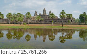 Купить «Angkor Wat temple in Siem Reap, Cambodia», видеоролик № 25761266, снято 7 декабря 2016 г. (c) Михаил Коханчиков / Фотобанк Лори
