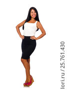 Купить «Nice woman model isolated on the white background», фото № 25761430, снято 14 августа 2015 г. (c) Elnur / Фотобанк Лори