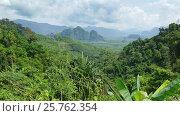 Купить «Landscape of Khao Sok National Park in Thailand», видеоролик № 25762354, снято 7 февраля 2017 г. (c) Михаил Коханчиков / Фотобанк Лори