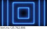 Купить «Abstract background with neon squares», видеоролик № 25762886, снято 11 марта 2017 г. (c) Роман Будников / Фотобанк Лори