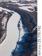 Купить «Река Ока зимой, вид сверху», фото № 25770742, снято 3 февраля 2017 г. (c) Владимир Мельников / Фотобанк Лори