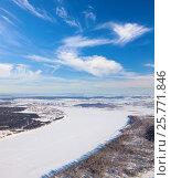 Купить «Река Кама зимой, вид сверху», фото № 25771846, снято 4 февраля 2017 г. (c) Владимир Мельников / Фотобанк Лори