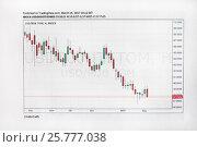 Купить «Финансовый график», фото № 25777038, снято 17 марта 2017 г. (c) Victoria Demidova / Фотобанк Лори
