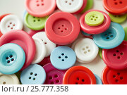 Купить «colorful sewing buttons», фото № 25777358, снято 29 сентября 2016 г. (c) Syda Productions / Фотобанк Лори